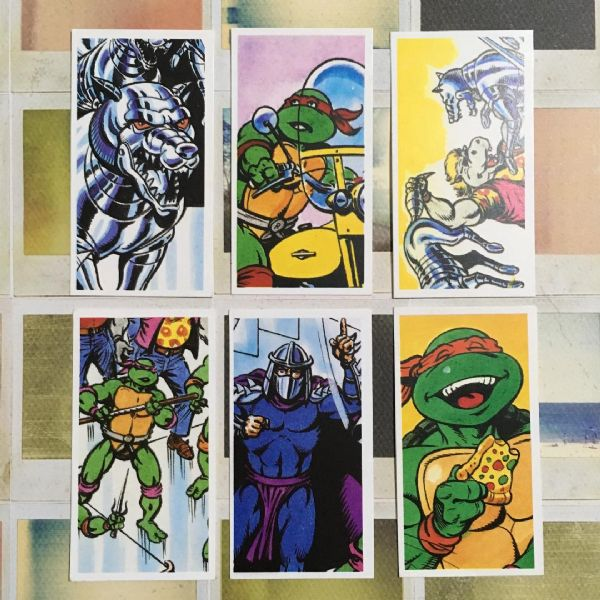 1990 'Dimension X Escapade' Teenage Mutant Ninja Turtles, Brooke Bond Tea Cards, Full Set